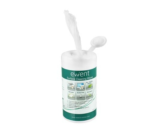 Ewent Screen and Surface Cleaning Wipes (100 pieces) [ EW5612 ]
