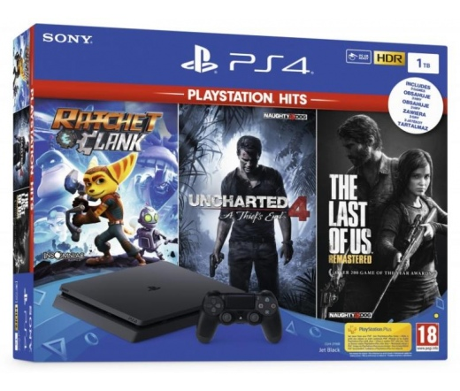 SONY PS4 Slim 1TB + HITS bundle