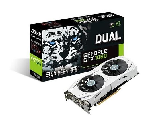 Asus DUAL-GTX1060-3G 3GB DDR5