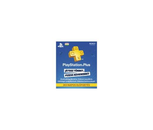 SONY PSN PlayStation Plus 365 napos feltöltőkártya (PS4)