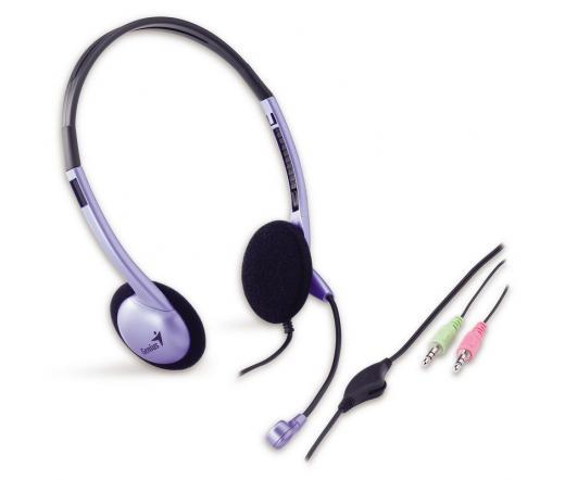 GENIUS Headphone HS-02B Fülhallgató+mikrofon