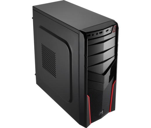 HÁZ AEROCOOL PGS V2X RED ATX PC, Tápegység nélkül, USB 3.0
