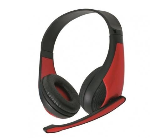 OMEGA Freestyle Headphone FH4008R Hi-fi Piros