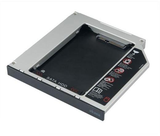 "MOBIL RACK AKASA N.Stor 2,5"" sata HDD/SSD -> Slim SATA ODD Bay 13mm adapter"