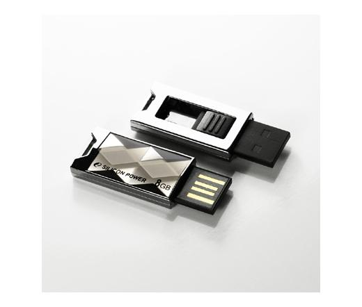 Pendrive 8GB Silicon Power Touch 850 Titanium USB2.0