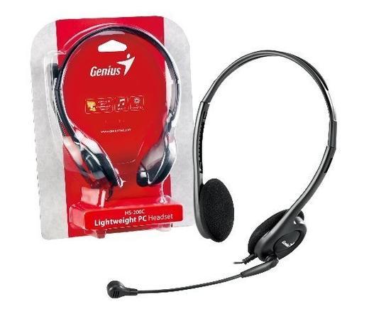 GENIUS Headphone HS-200C Fülhallgató+mikrofon