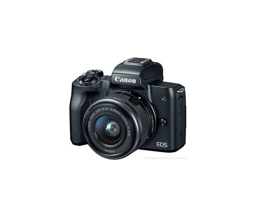 CANON EOS M50 + EF-M 15-45mm Kit fekete