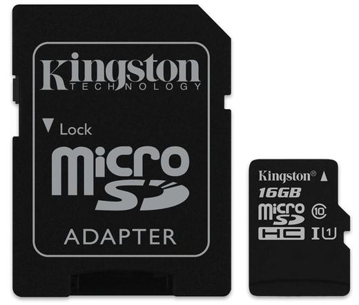 Card MICRO SD Kingston 16GB 1 Adapter UHS-I CL10 G2