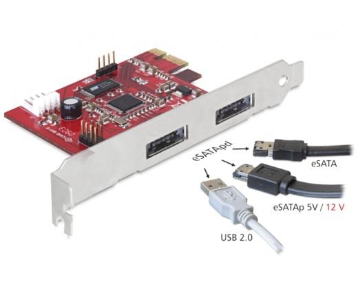 I/O DELOCK PCI-E -> 2x Power Over eSATA 5V/12V (89233)