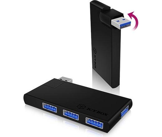 ICY BOX 4 Port USB 3.0 IB-HUB1401 Hub Aluminium