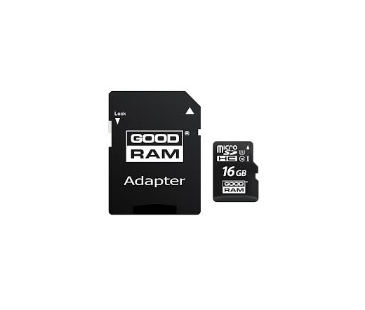 Card MICRO SDHC GOODRAM 16GB 1 Adapter CL10