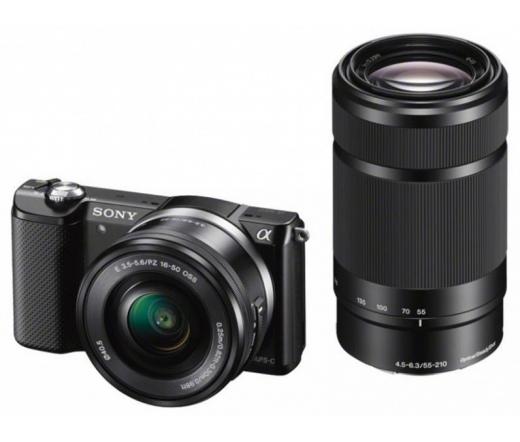SONY Alpha 6000 Fekete + 16-50mm + 55-210mm Kit