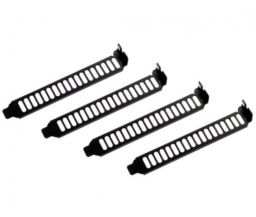 SILVERSTONE SST-Aeroslots-B PCI slotpanel Fekete
