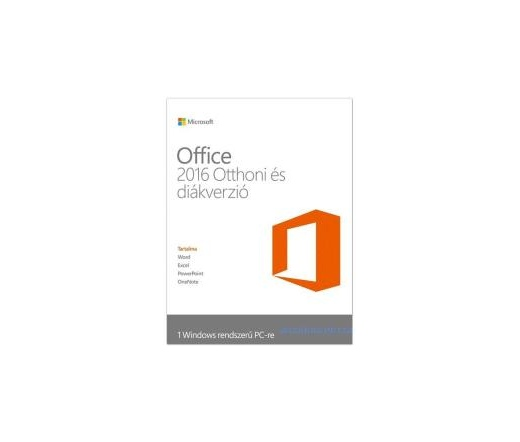 SW MS OFFICE 2016 Home & Student 1user HUN P2 ML