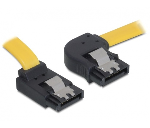DELOCK Cable SATA right/up metal yellow 30cm (82523)