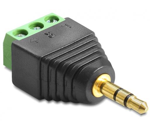 DELOCK Adapter Stereo plug 3.5 mm > Terminal Block 3 pin (65419)