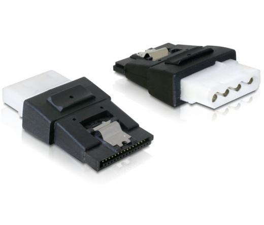 DELOCK Adapter Power 4pin Molex female > SATA power 15pin female with clip (65046)