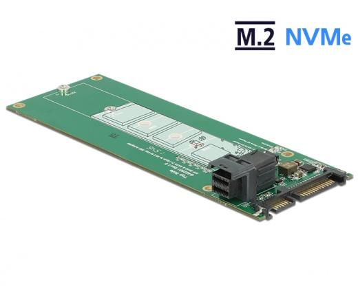 Delock 22tűs / SFF-8643 NVMe > 1x M.2 NGFF M a...