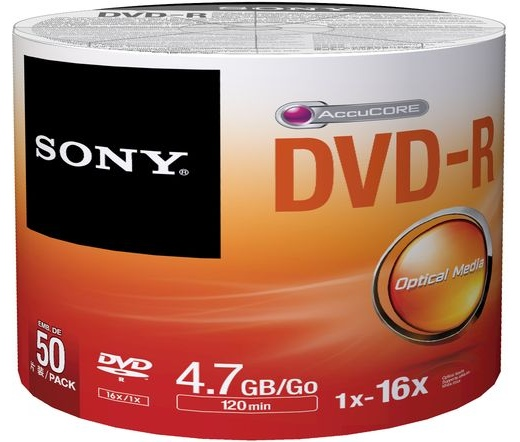 DVD-R LEMEZ SONY 4.7GB 16x 50db/henger
