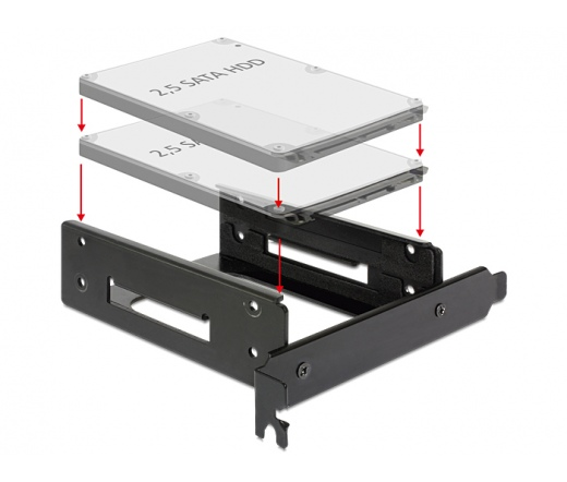 "DELOCK Installation frame for 2 x 2.5"""" HDD into the PC slot"