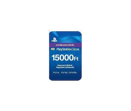 Előfizetések 15000Ft-os Feltöltő kártya PlayStation Network szolgáltatáshoz  Kártyás kivitel
