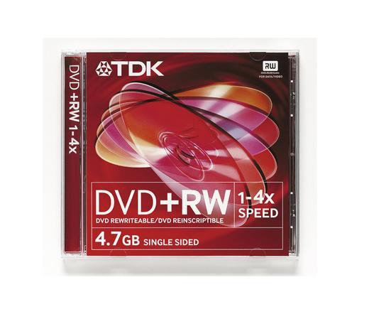 DISC TDK DVD+RW 4,7GB 4X normál tok