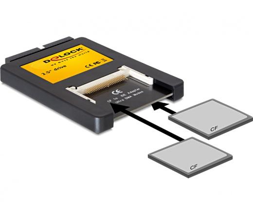 "CARD READER DELOCK 2.5"""" Drive IDE > 2 x Compact Flash Card (91662)"