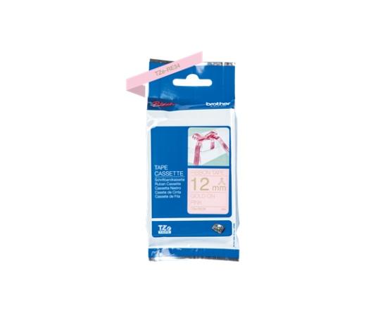 BROTHER P-touch TZe-RE34 laminált szalag (pink/arany)