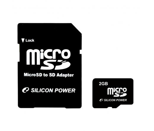 Card MICRO SD Silicon Power 2GB 1 Adapter