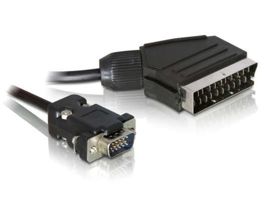 DELOCK Cable Video Scart output -> VGA input 2m (65028)