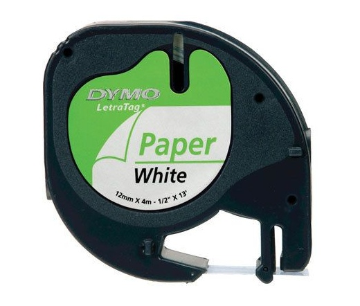 DYMO címke LT papír 12mm fehér