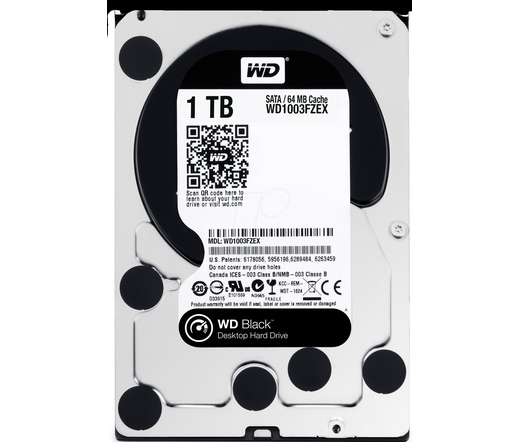 HDD WD 1TB 7200 RPM 64MB CACHE SATA-III Black WD1003FZEX