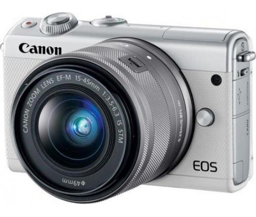 CANON EOS M100 + 15-45mm Kit fehér