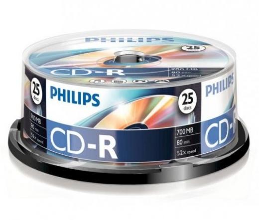 Philips CD-R80CB*25 cake-box 52x csomag