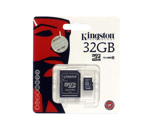 Card MICRO SD Kingston 32GB 1 Adapter CL10